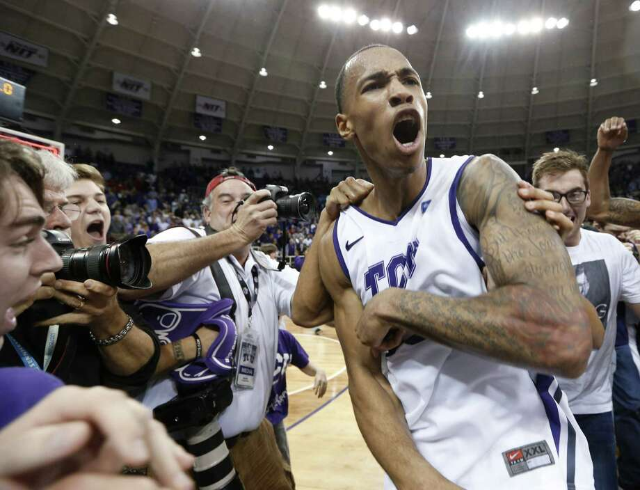 "Wednesday's win helped TCU's Garlon Green reach a lifelong goal. ""I've grown up since I was 3 years old having a dream to beat Kansas ...,"" he said. Photo: Sharon Ellman / Associated Press"