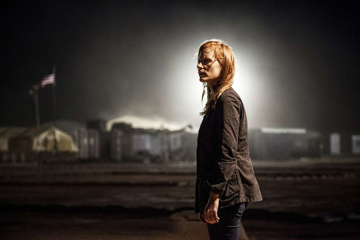 """FILE - This undated publicity file photo released by Columbia Pictures Industries, Inc. shows Jessica Chastain, as Maya, a member of the elite team of spies and military operatives stationed in a covert base overseas, who secretly devoted themselves to finding Osama Bin Laden in Columbia Pictures' new thriller, """"Zero Dark Thirty,"""" directed by Kathryn Bigelow. (AP Photo/Columbia Pictures Industries, Inc., Jonathan Olley, File)"""