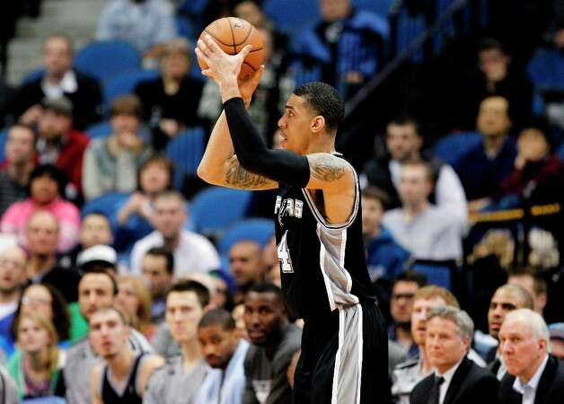 San Antonio Spurs shooting guard Danny Green (4) shown during an NBA basketball game against the Minnesota Timberwolves Wednesday, Feb. 6, 2013 in Minneapolis. Photo: Genevieve Ross, Associated Press / FR170496 AP