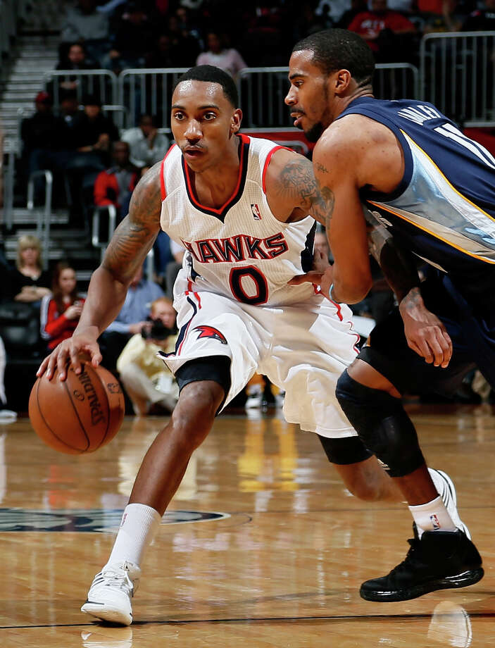Western Conference Skills Challenge participantJeff Teague, guard for the Atlanta Hawks, is averaging 14 points per game to go along with nearly 7 assists. Photo: Kevin C. Cox, Getty Images / 2013 Getty Images