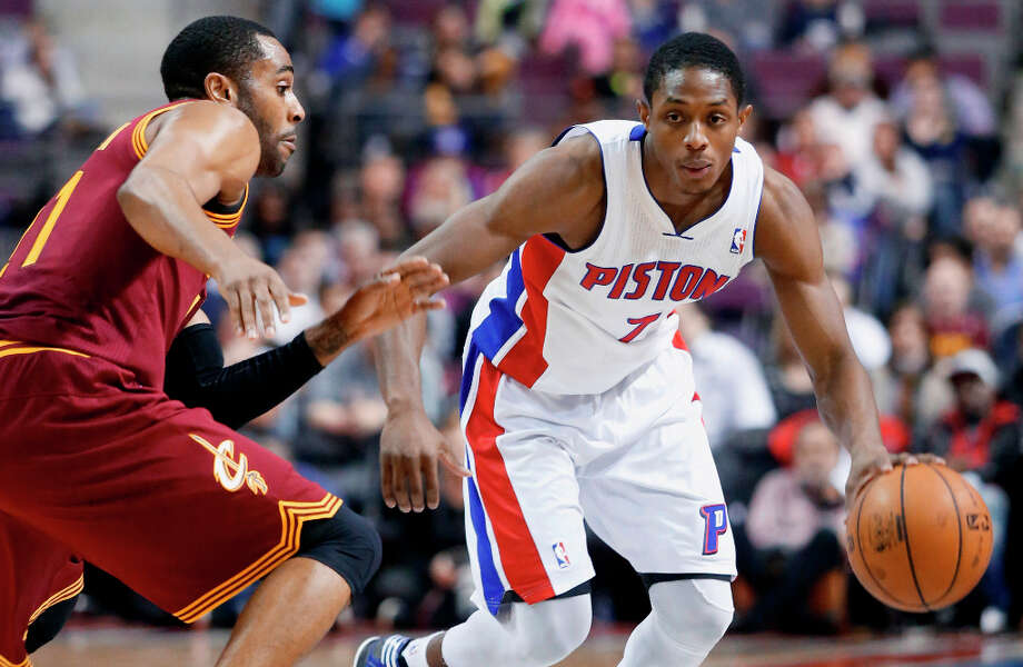 Western Conference Skills Challenge participantBrandon Knight, guard for the Detroit Pistons, is averaging 13 points and 4.4 assists per game. Photo: Duane Burleson, Associated Press / FR38952 AP