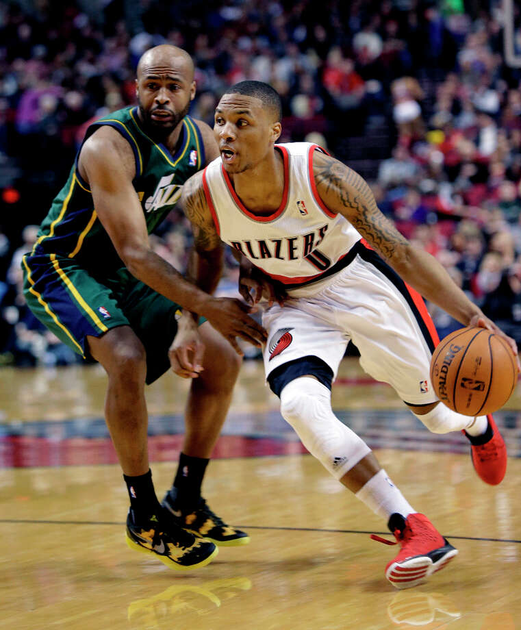Western Conference Skills Challenge participantDamian Lillard, guard for the Portland Trailblazers, is averaging over 18 points per game and over 6 assists. Photo: Don Ryan, Associated Press / AP