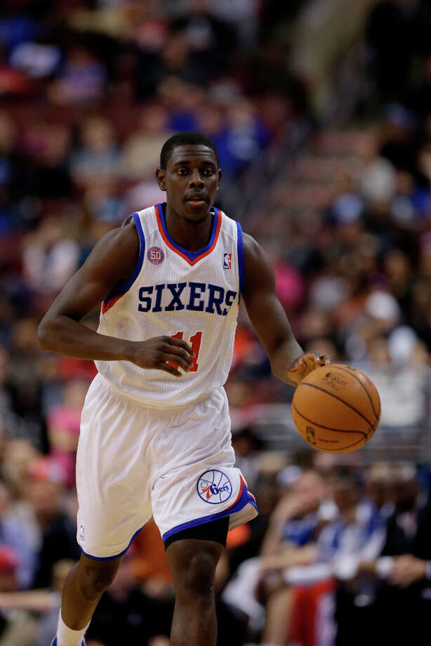Western Conference Skills Challenge participantJrue Holiday, guard for the Philadelphia 76ers, is averaging 19 points per game and just under 9 assists. Photo: Matt Slocum, Associated Press / AP