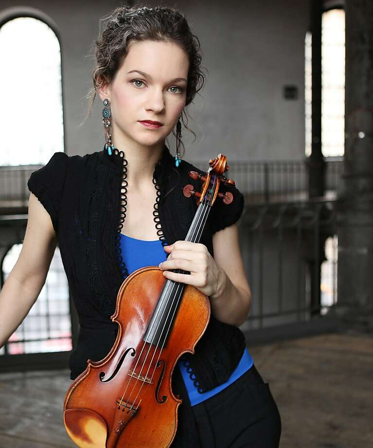 Hilary Hahn's magnificent Herbst Theatre recital was built around parts of a commissioning project. Photo: Peter Miller