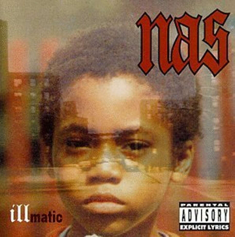 """Nas –- """"Illamatic:""""This debut album went platinum in the U.S. and gold in Canada, and peaked at No. 2 on the U.S. Top R&B/Hip-Hop Albums chart. Some music critics said it's the best or at least one of the best hip hop albums of all time. (Album cover)"""