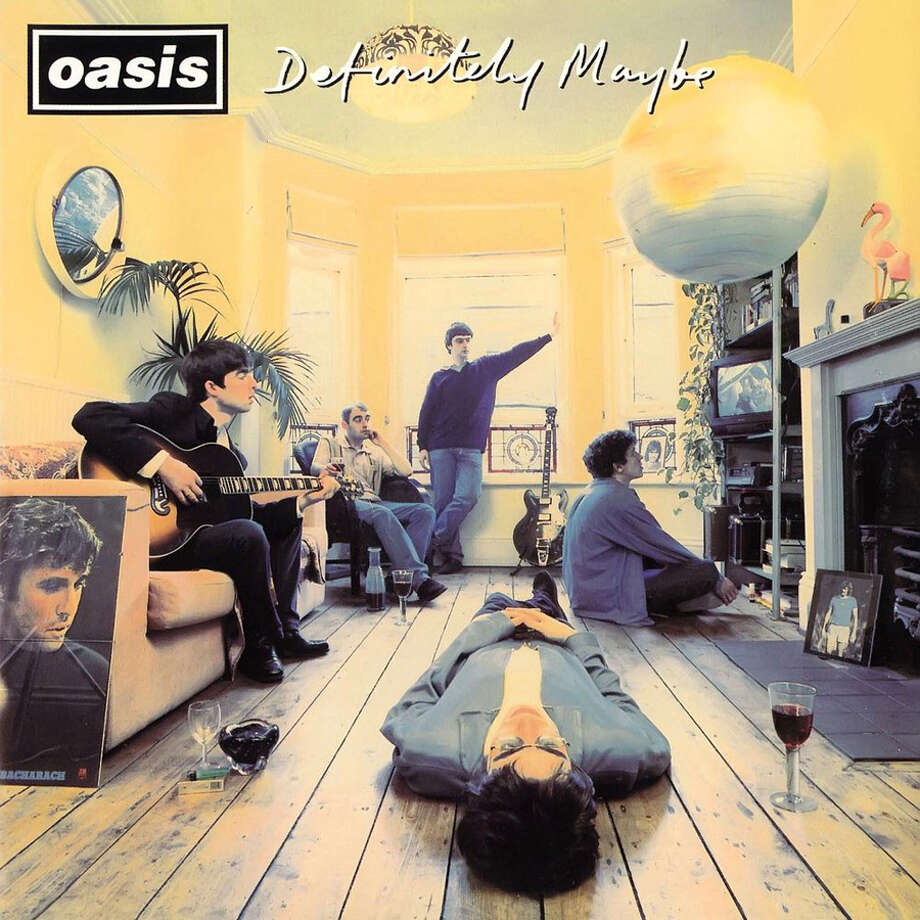 """Oasis – """"Definitely Maybe:""""This isn't the one with Wonderwall, but this debut disc is considered the best 1990s albums by the British press and Rolling Stone put it at No. 78 on their list of the 100 best albums of the 1990s. (Album cover)"""