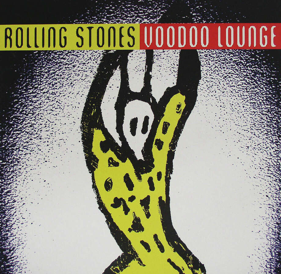 "The Rolling Stones -– ""Voodoo Lounge:"" This one debuted at No. 1 in the UK and No. 2 in the U.S. This disc had ""You Got Me Rocking"" and ""Love Is Strong."" (Album cover)"