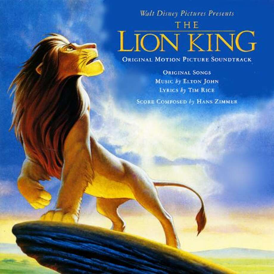 """The Lion King SoundtrackRemember """"Hakuna Matata?"""" How about """"Can You Feel the Love Tonight,"""" or """"Circle of Life?"""" The Elton John tracks helped the soundtrack go platinum three times in Eurpoe and the record sold more than 10 million copies in the U.S. (Album cover)"""