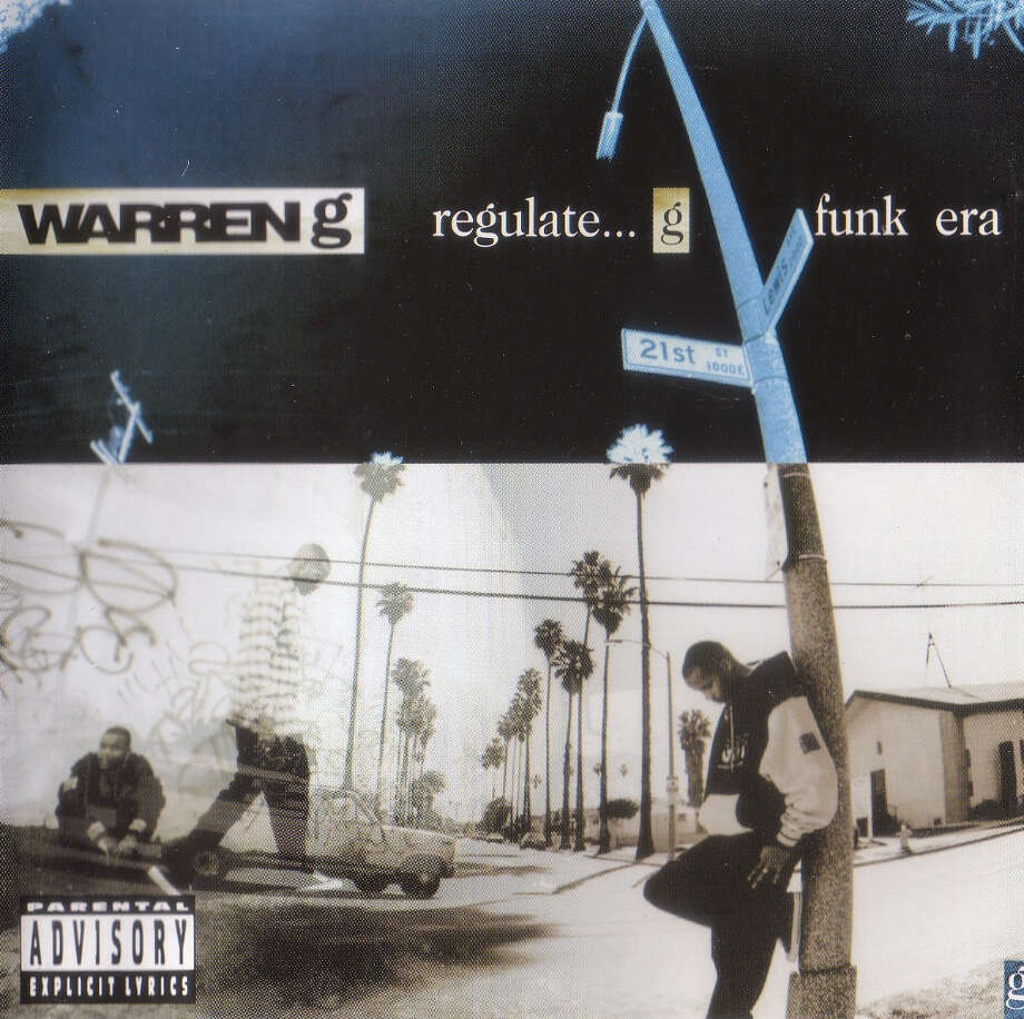 """Warren G –- """"Regulate...G Funk Era:""""The title track made VH1's 100 Greatest Songs of Hip Hop list and the debut album peaked at No. 2 on the Billboard 200 Albums chart. """"Regulators! Mount Up!"""" (Album cover)"""