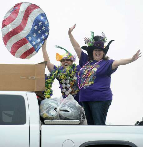 Moments away from the courir parade kicking off krewe members get excited to parade down Lakeshore Drive on Thursday, February 7,2013, in Port Arthur. Photo taken: Randy Edwards/The Enterprise Photo: Randy Edwards