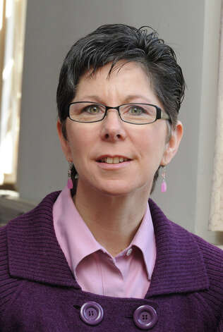 FORUM ON FAITH: Rev. Laura Westby, pastor of the First Congregational Church on Deer Hill Ave. in Danbury, Monday, March 8, 2010. Photo: Carol Kaliff, ST / The News-Times