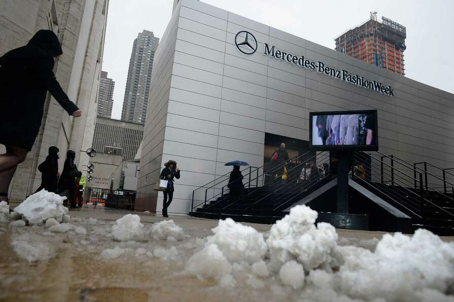 A general view of atmosphere during Fall 2013 Mercedes-Benz Fashion Week at Lincoln Center for the