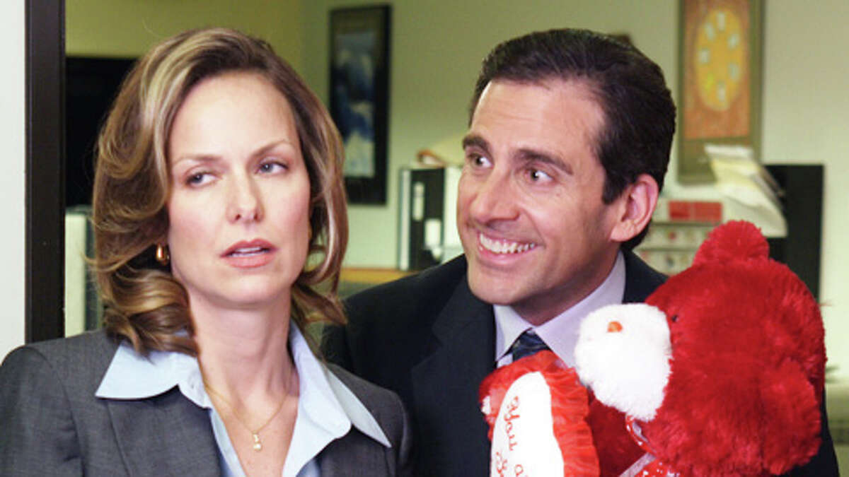 THE OFFICE -- NBC Series -- Pictured: (l-r) Melora Hardin as Jan Levinson, Steve Carell as Michael Scott -- NBC Photo: Paul Drinkwater FOR EDITORIAL USE ONLY / DO NOT ARCHIVE
