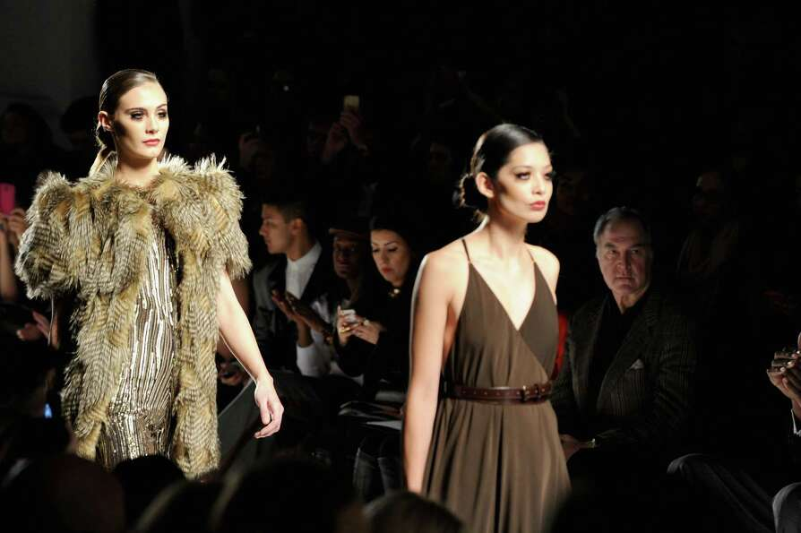 Models walk the runway at the CZAR by Cesar Galindo Fall 2013 fashion show during Mercedes-Benz Fash