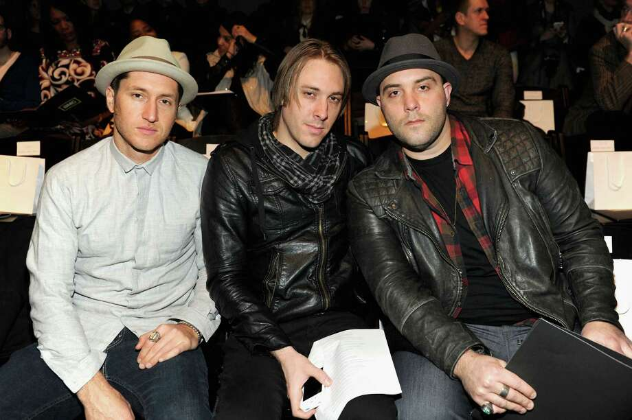 Nate Blumenthal-James, Josh Mervin, and Dustin Bath of 'Early Morning Rebel' attend the CZAR by Cesar Galindo Fall 2013 fashion show during Mercedes-Benz Fashion Week at The Studio at Lincoln Center on February 8, 2013 in New York City.  (Photo by Craig Barritt/Getty Images for Mercedes-Benz Fashion Week) Photo: Craig Barritt, (Credit Too Long, See Caption) / 2013 Getty Images