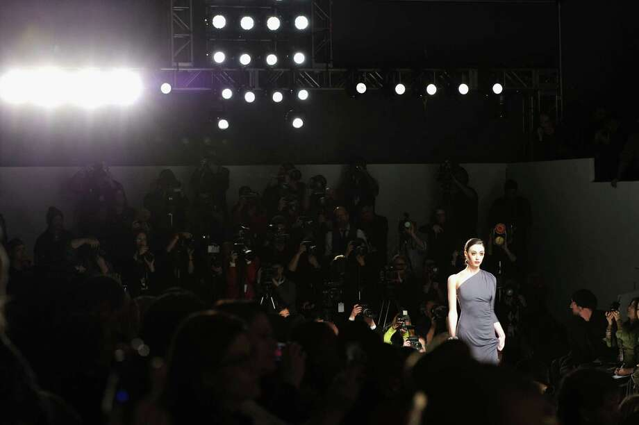 A model walks the runway at the CZAR by Cesar Galindo Fall 2013 fashion show during Mercedes-Benz Fashion Week at The Studio at Lincoln Center on February 8, 2013 in New York City.  (Photo by Craig Barritt/Getty Images for Mercedes-Benz Fashion Week) Photo: Craig Barritt, (Credit Too Long, See Caption) / 2013 Getty Images