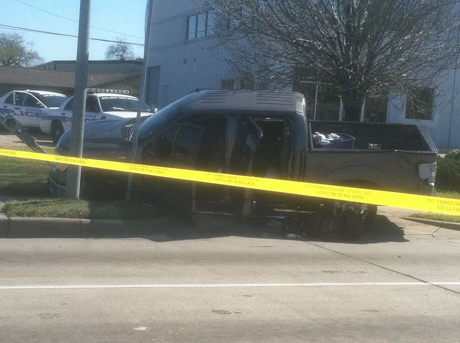 Houston police are investigating a chase in west Houston. (Dale Lezon)