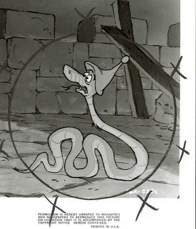 "Famous Snakes: Sir Hiss is featured in Disney's animated tale of ""Robin Hood."" Photo: Disney"