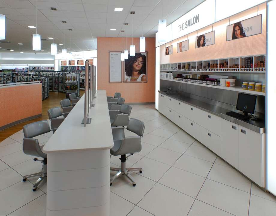 The store features a 950 square foot full-service salon.