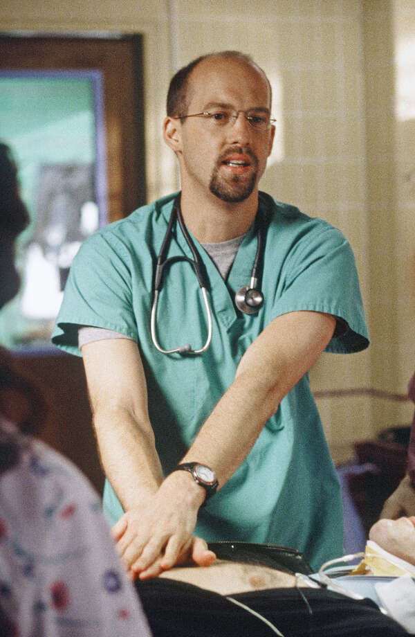 Anthony Edwards then traded the pilot outfit for scrubs in ''ER,'' as Dr. Mark Greene. Photo: NBC, NBC Via Getty Images / © NBC Universal, Inc.