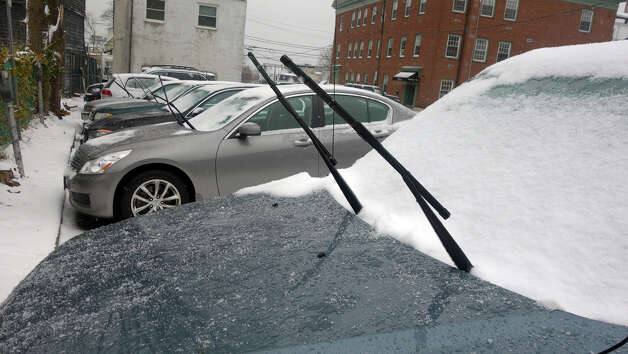 Wipers stand at attention as a blizzard moves into Greenwich, Conn., Feb. 8, 2013. Photo: Keelin Daly / Keelin Daly