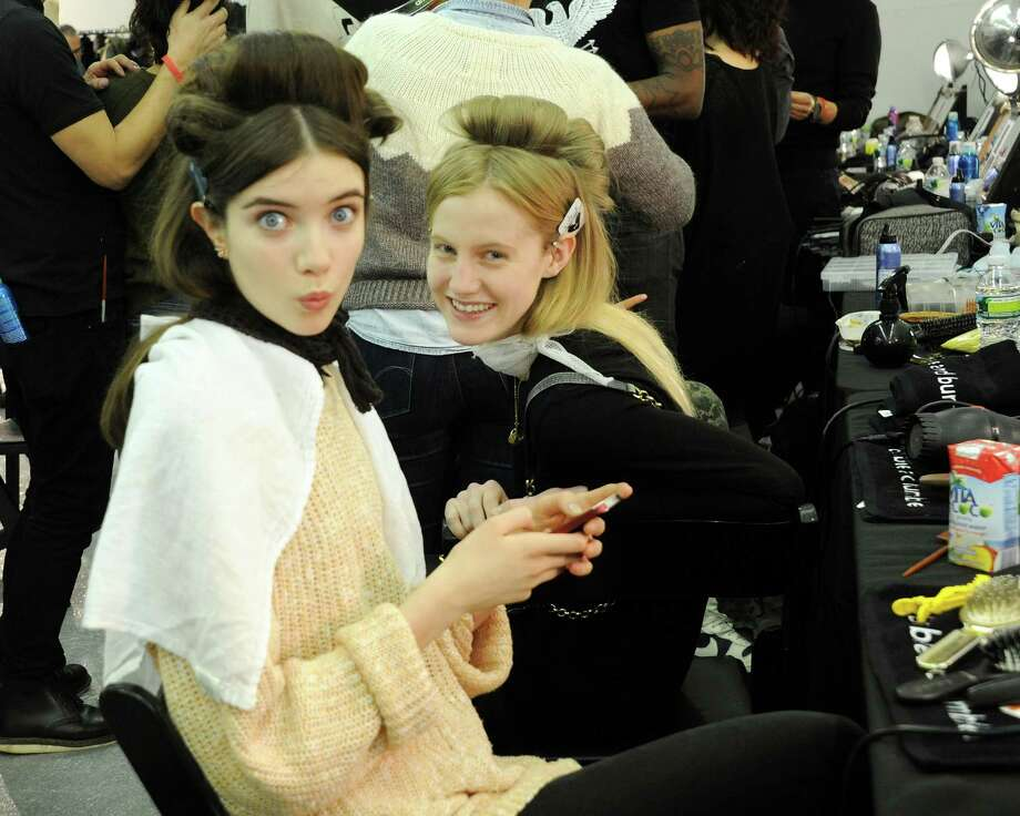 Models pose backstage at the Chadwick Bell fall 2013 fashion show during Mercedes-Benz Fashion Week at Cafe Rouge on February 8, 2013 in New York City. Photo: Ben Gabbe, Getty Images / 2013 Getty Images