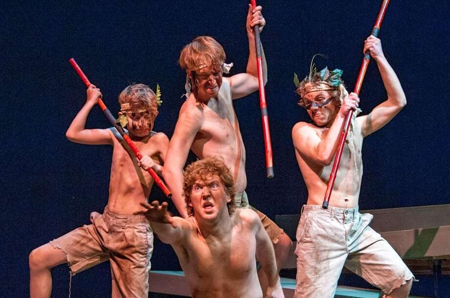 Back Row L to R:  Jared DeWolf, Kevin Mitchell, Randall Marr Front Row:  Matthew McFadden In The Theatre Institute at Sage's production of Lord of the Flies    Directed by David Bunce February 6-16, 2013 (Theatre Institute at Sage)