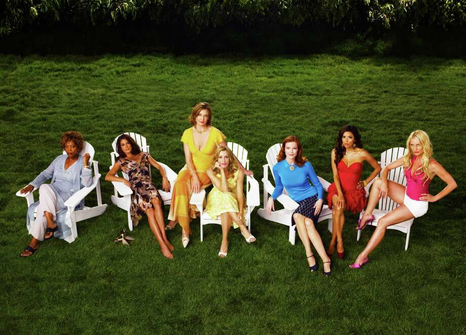 This undated publicity photo, released by ABC, shows cast members of the network's hit show Desperate Housewives,  from left, Alfre Woodard, Teri Hatcher, Brenda Strong, Felicity Huffman, Marcia Cross, Eva Longoria and Nicollette Sheridan. Photo: ANDREW ECCLES, AP / ABC, INC.