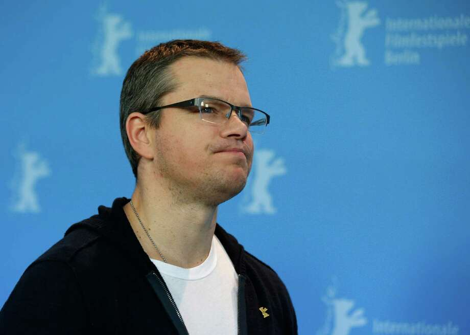 Actor Matt Damon poses at the photo call for the film Promised Land at the 63rd edition of the Berlinale, International Film Festival in Berlin, Friday, Feb.8,2013. (AP Photo/Gero Breloer) Photo: Gero Breloer