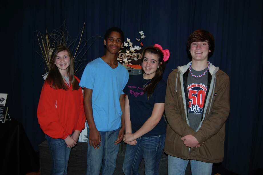 These are the four Henderson students who shared their feelings about the Holocaust. Left to Right: Grace Phelps, Landon Mitchell, Kailey Long and Reid Yentzen. Photo: Jay Cockrell / Jay Cockrell