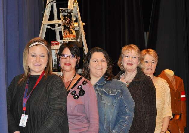 Five Henderson Middle School teachers worked together to create the Holocaust Exhibit. Left to Right: Stephanie Battle, Trish Rupert, Terri Smith, Cindy Williams and Diana Schneider. Photo: Submission