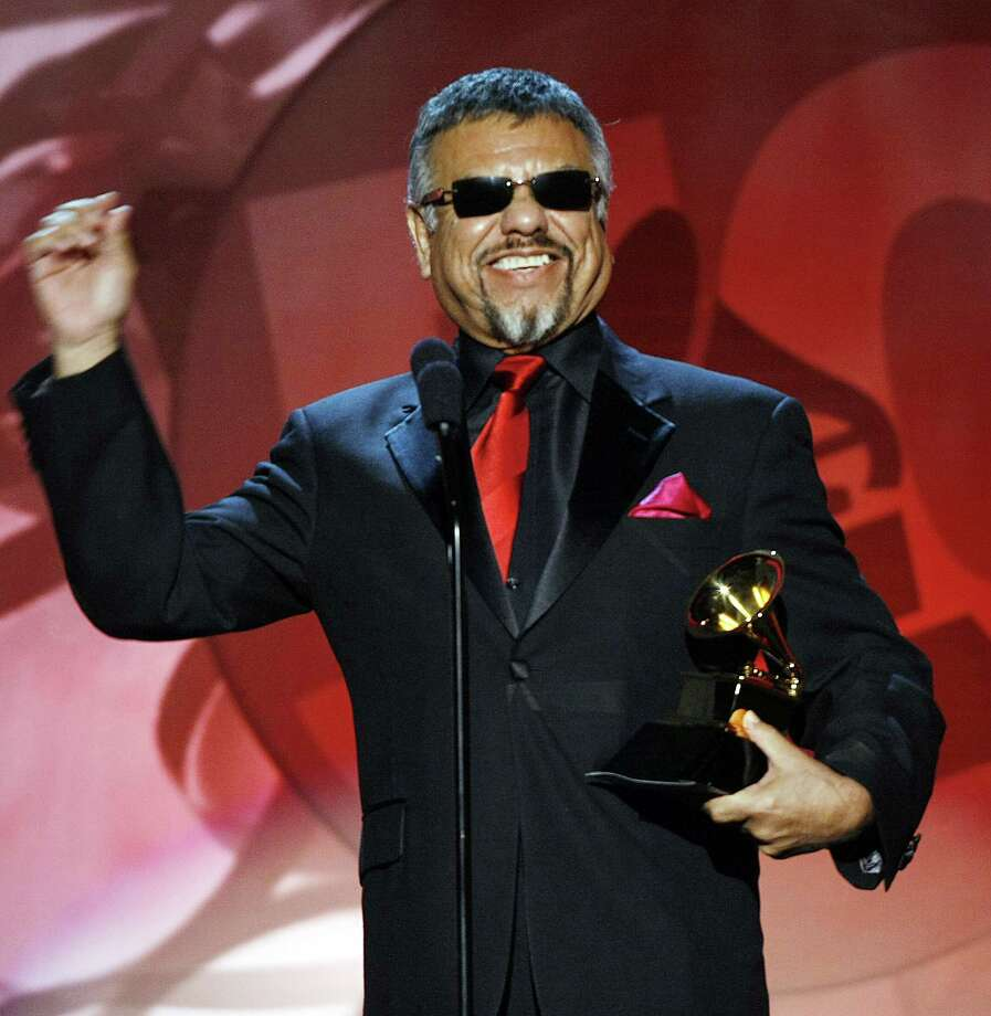 "José María De León Hernández of Little Joe & La Familia accepts the award in the Best Tejano Album category for ""Before The Next Teardrop Falls"" during the Pre-Telecast Show at the 50th Grammy Awards at the Staples Center in Los Angeles on February 10, 2008. Photo: ROBYN BECK, Staff / AFP"