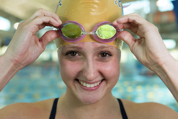 O'Connor swimmer Abby McAlpin poses for a portrait at the NISD Natatorium on Tuesday, Feb. 5, 2013. MICHAEL MILLER / FOR THE EXPRESS-NEWS Photo: Michael Miller, Express-News / For the Express-News