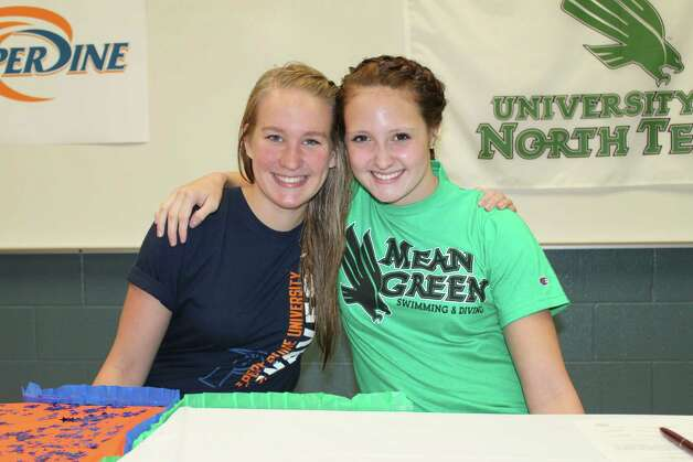 Emily Parks and Abby McAlpin signed to swim for Pepperdine and the University of North Texas, respectively. Photo: Express-News