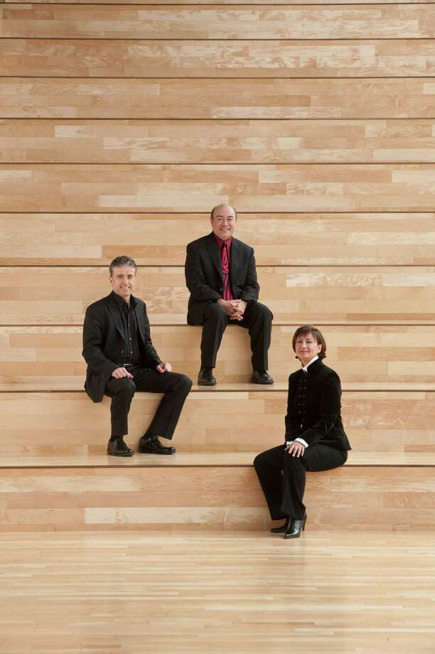 The Gryphon Trio, from left, Roman Borys, cello; Jamie Parker, piano; and Annalee Patipatanakoon, violin. Photo: Courtesy Gryphon Trio