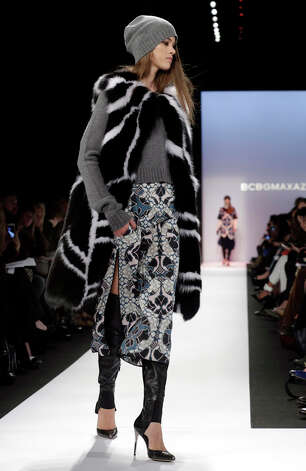 The BCBG Max Azria Fall 2013 collection is modeled during Fashion Week in New York on Thursday, Feb. 7, 2013. (AP Photo/Richard Drew) Photo: Richard Drew, Wire Photos / AP