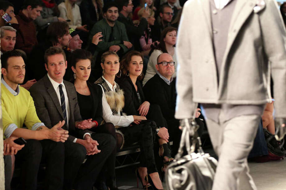 NEW YORK, NY - FEBRUARY 07:  (R-L) Cheyenne Jackson, Armie Hammer, Elizabeth Chambers, Heidi Klum and Brooke Shields attend the Kenneth Cole Collection Fall 2013 fashion show during Mercedes-Benz Fashion Week at 537 West 27th Street on February 7, 2013 in New York City.  (Photo by Chelsea Lauren/Getty Images for Mercedes-Benz Fashion Week) Photo: Chelsea Lauren, Wire Photos / 2013 Getty Images