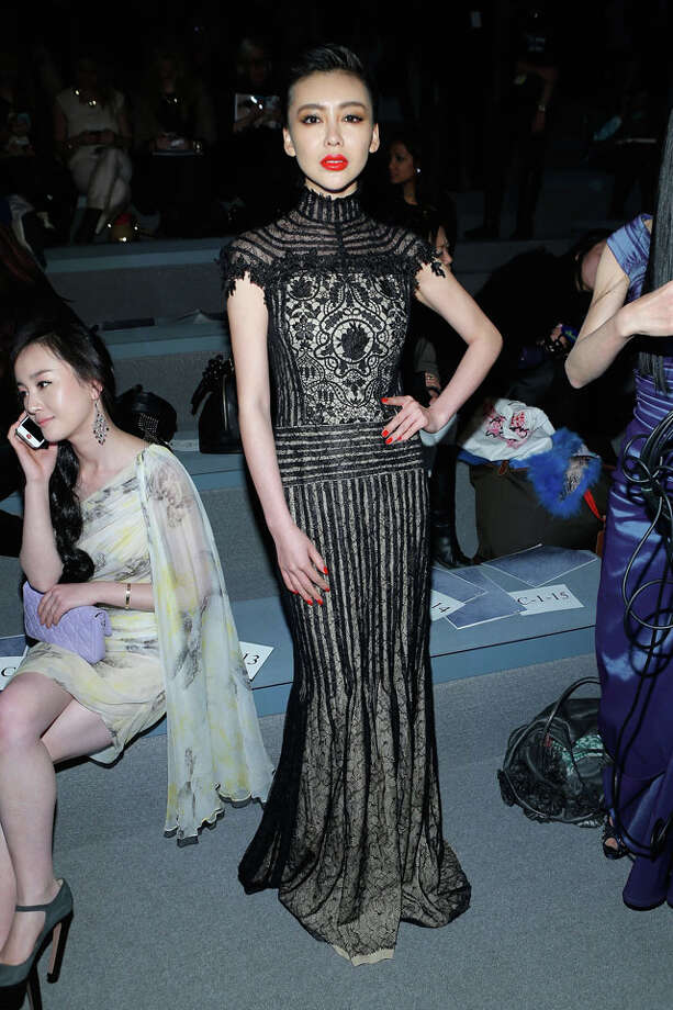 NEW YORK, NY - FEBRUARY 07:  Actress Gong Xiliang attends the Tadashi Shoji Fall 2013 fashion show during Mercedes-Benz Fashion Week at The Stage at Lincoln Center on February 7, 2013 in New York City.  (Photo by Jemal Countess/Getty Images for Mercedes-Benz Fashion Week) Photo: Jemal Countess, Wire Photos / 2013 Getty Images