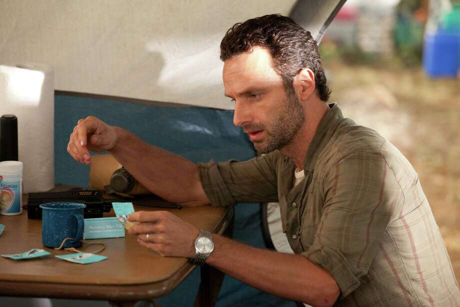 Rick finds out Lori's morning after pills and confronts her. She admits she's took them but threw them up. She also admits to sleeping with Shane. Photo: Bob Mahoney/Courtesy Of AMC