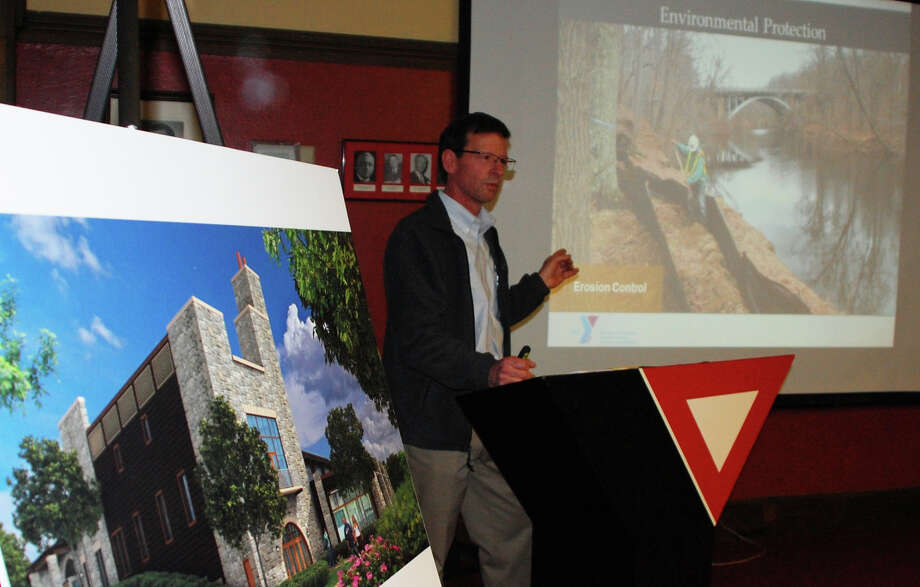 Dan Drake, senior project manager for Turner Construction, which is building the new Westport Weston Family Y, told a THursday forum about construction methods and other issues regarding the project.  WESTPORT NEWS, CT 2/7/13 Photo: Jarret Liotta / Westport News contributed