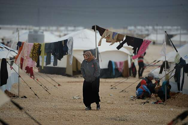 Syrians like these in Jordan are fleeing into neighboring countries at a rate of 5,000 a day. Photo: Jeff J Mitchell, Getty Images