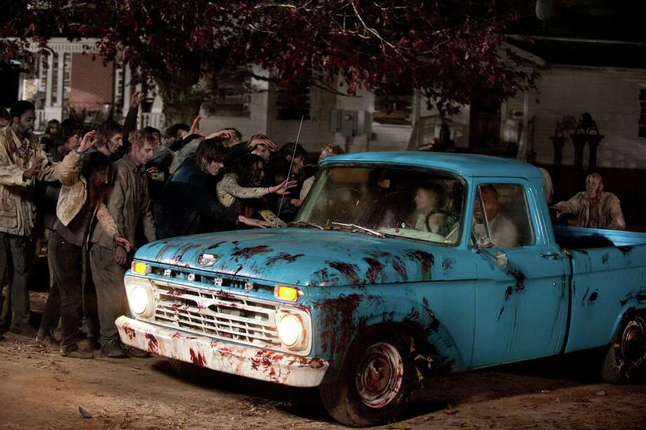 The group flees the farm and Rick admits to killing Shane. Lori is upset and leaves. Rick tells the rest of the group that he is ruling in absolute. It is no longer a democracy. Andrea gets saved by a mysterious person in black. Photo: Gene Page/Courtesy Of AMC