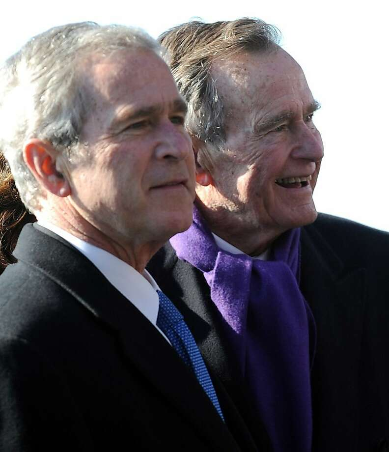 E-mails involved George W. Bush and his father, George H.W. Bush. Photo: Tim Sloan, AFP/Getty Images