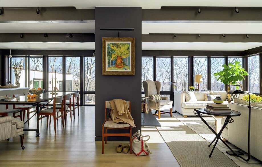 Light from windows floods the living and dining rooms in the home of Town & Country editor Jay Fielden. Photo: New York Times Photos