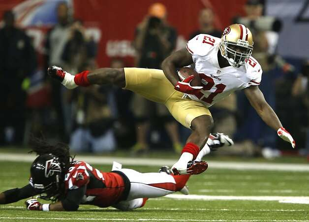 Running back Frank Gore (21)during the second half of the San Francisco 49ers game against the Atlanta Falcons in the NFC Championship game at the Georgia Dome in Atlanta, GA., on Sunday January 20, 2013. Photo: Carlos Avila Gonzalez, The Chronicle