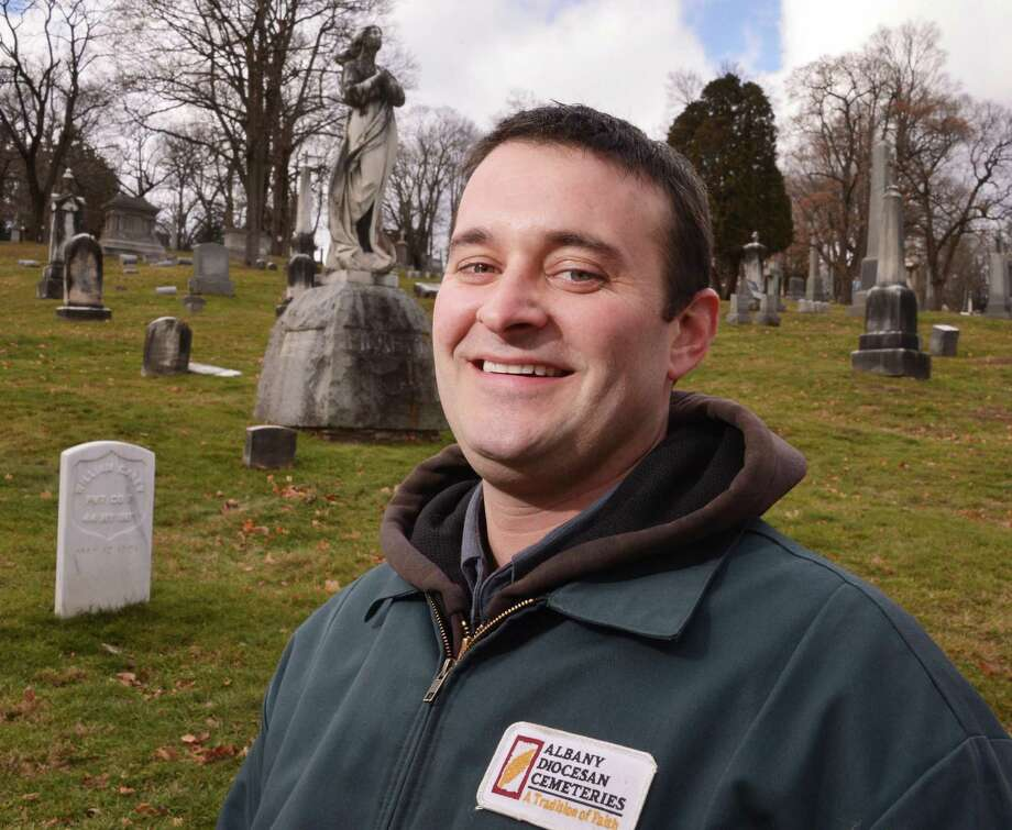 St. Agnes Cemetery field manager Luke McGarry at the cemetery in Menands Thursday Jan. 31, 2013.  (John Carl D'Annibale / Times Union) Photo: John Carl D'Annibale / 00020986A