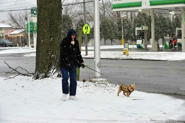 Snow begins to fall in Danbury Friday Feb. 8, 2013. Photo: Michael Duffy / The News-Times
