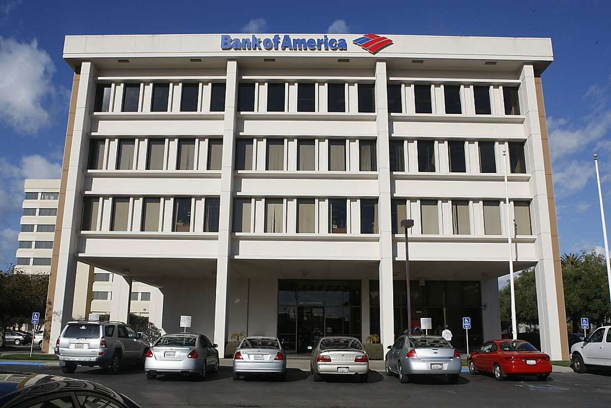 The front of the Bank of America with business as usual on Hegenberger Road in Oakland, Calif., on Friday, February 8, 2013. Matthew Aaron Llaneza, 28, was arrested near this Bank of America branch by FBI agents after he attempted to detonate a mock explosive device he thought was real.
