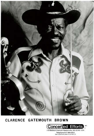 "Clarence ""Gatemouth"" Brown, guitarist, was born in Vinton, La. and raised in Orange. (Photo provided by Concerted Efforts, Inc.)"