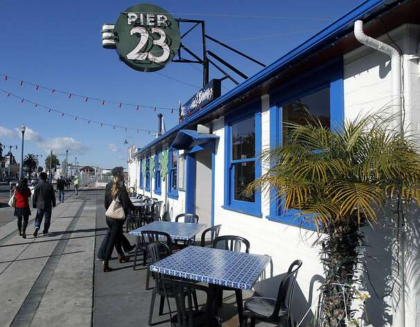 The Pier 23 Cafe is no longer a dive left over from the old waterfront - except for a naughty relic inside. Photo: Jessica Olthof, The Chronicle